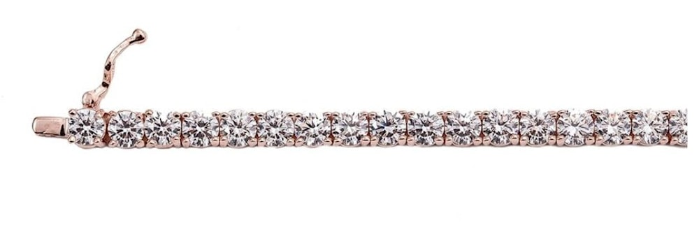 18 kgp rose gold 4mm tennis bracelet b