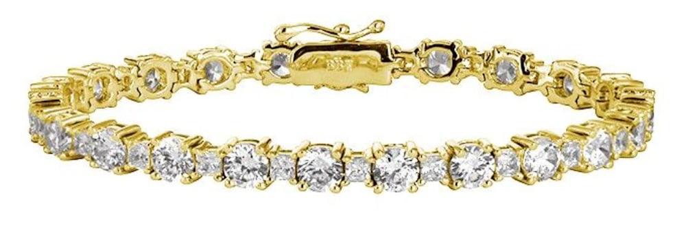 18 kgp princess cut tennis bracelet a