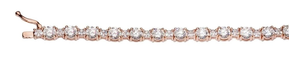 rose gold princess cut tennis bracelet b