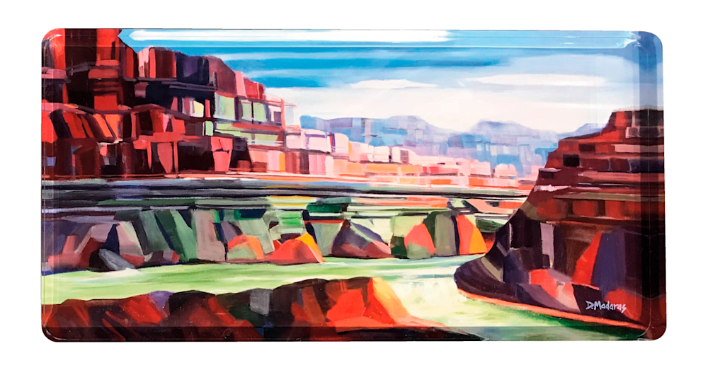 River in the canyon acrylic block