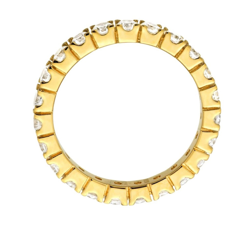18 kt gold plated thin round eternity c