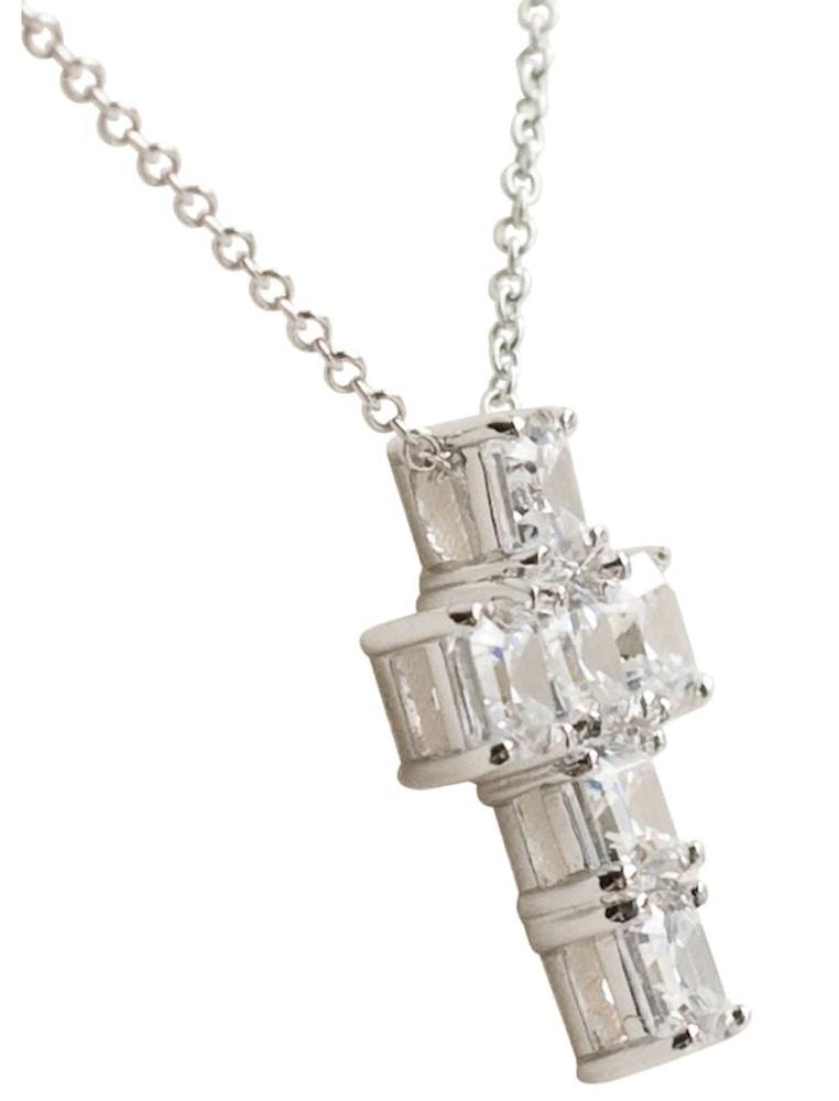 silver asscher cut canterbury cross b