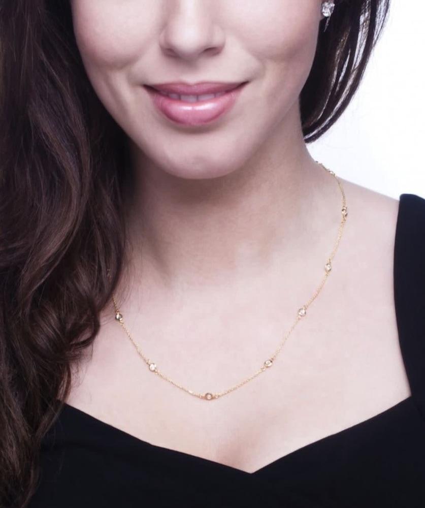 18 kgp regal short necklace 18 in c