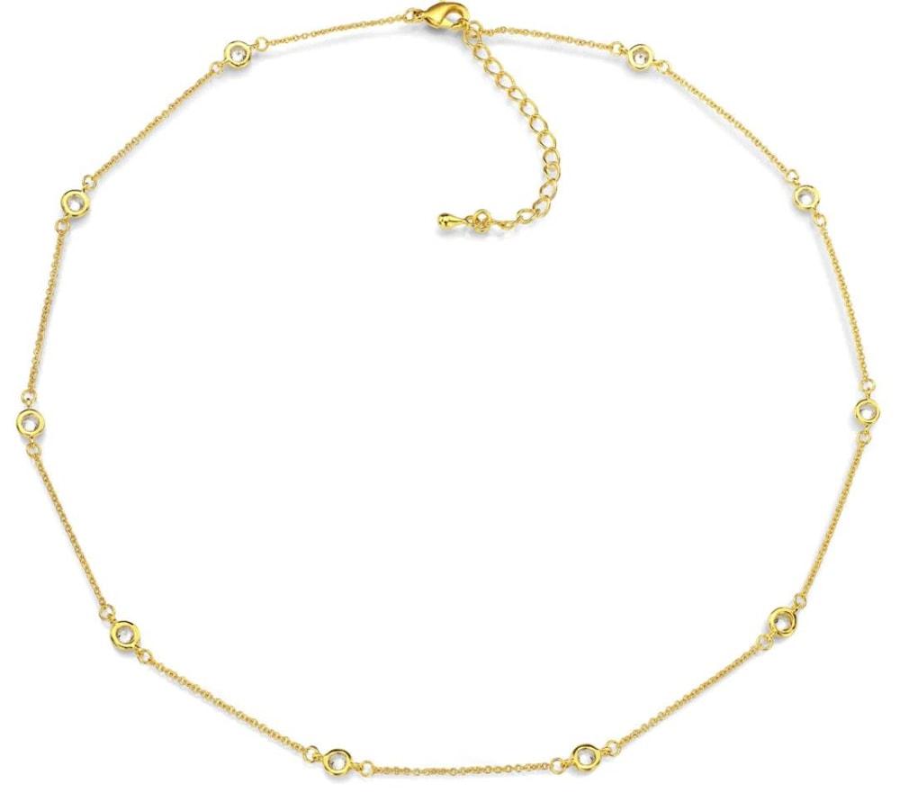 18 kgp regal short necklace 18 in b