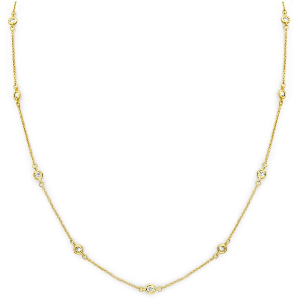 18 kgp regal short necklace 18 in a