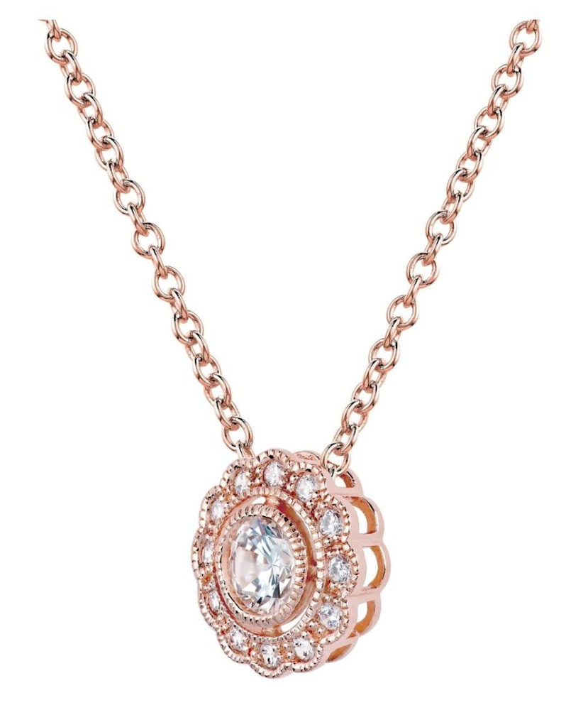 rose gold lace necklace b