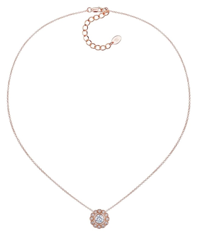 rose gold lace necklace c