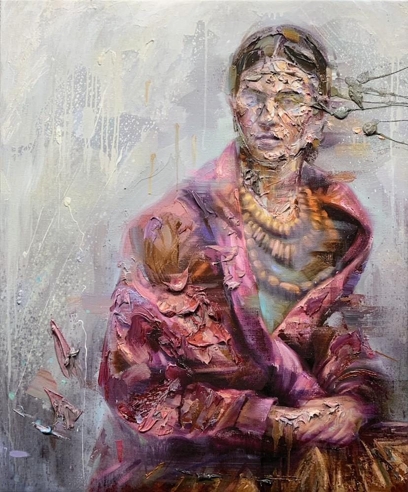 Frida Oil on Print