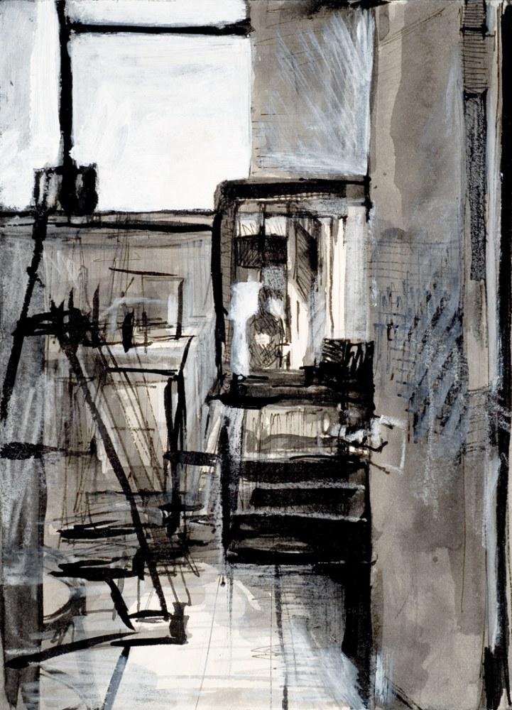 Studio Interior with Artist