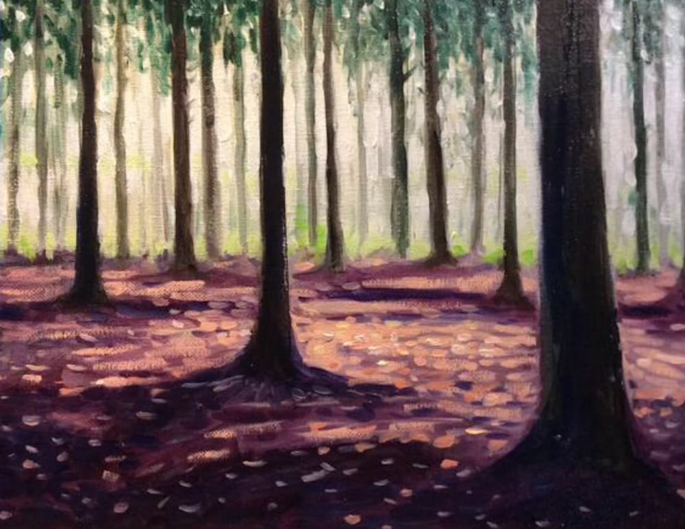The Quiet Woods Framed Original Romantic Fine Art oil painting Impressionist artwork