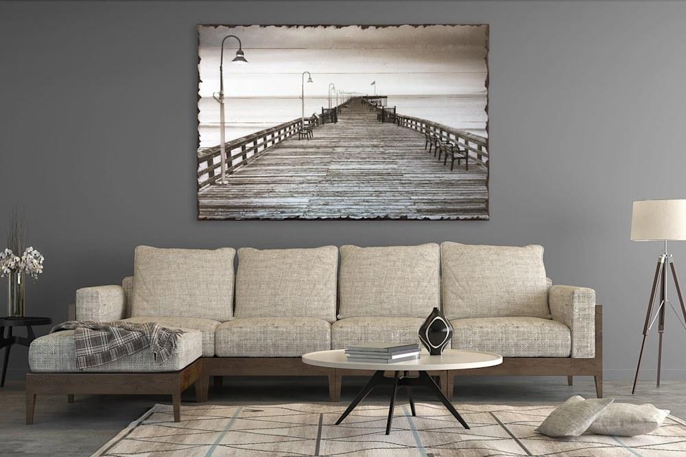 Wooden Pier Rustic 40x60 Living Room