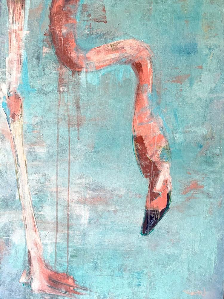 Flamingo II 70 x 100cm