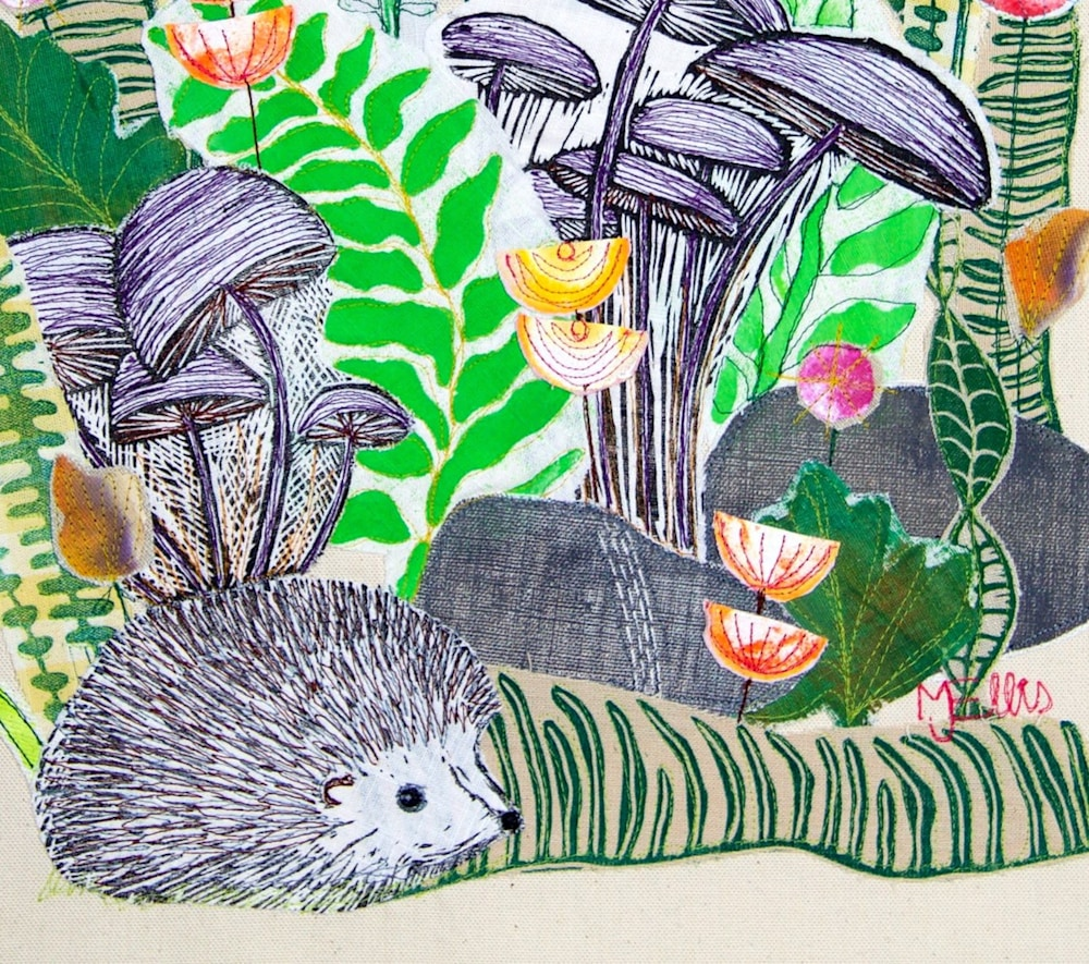 Forest Friends collage signature