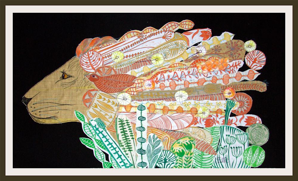 Leo lino collage framed