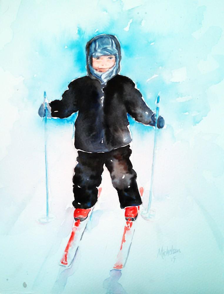 Gunner on skis (2)