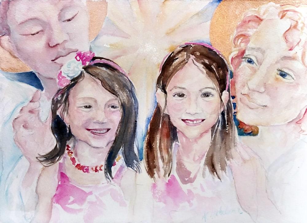 Hanneman Girls and Angels