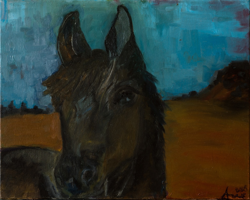 Shadow   original oil painting western art