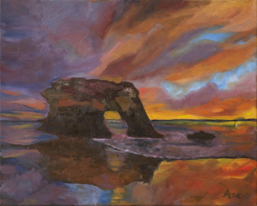 Natural Bridges Santa Cruz   Ane Howard paintings 14