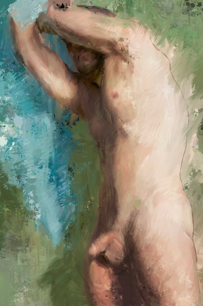 Nude Man With Towel  dig sm