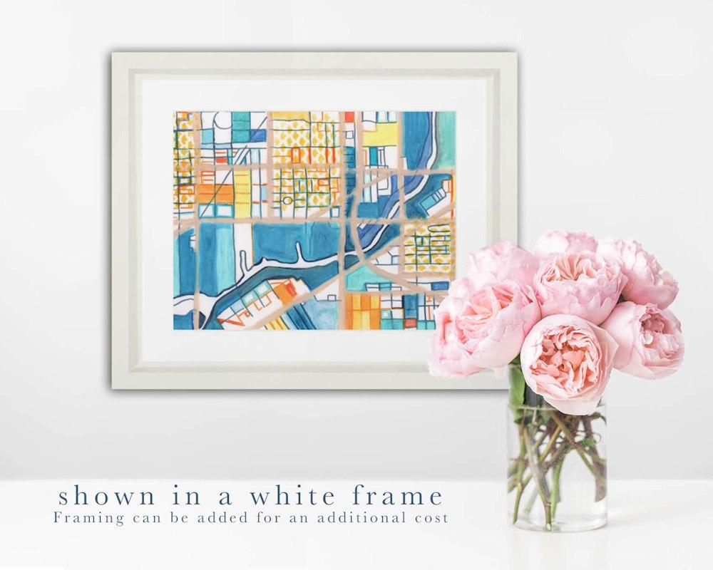 Pilsen white frame