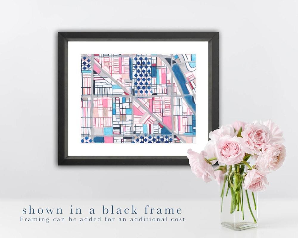 wicker black frame
