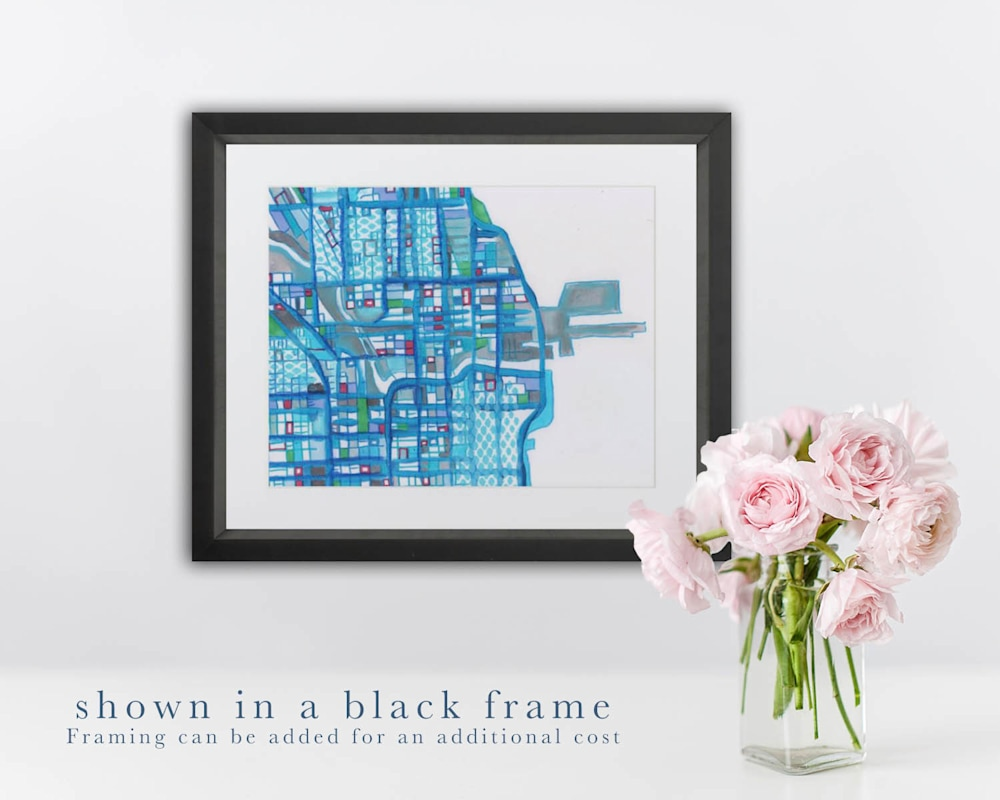 chicago black frame