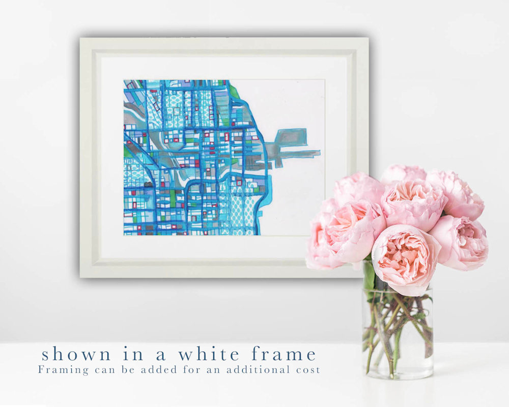 Chicago  white frame