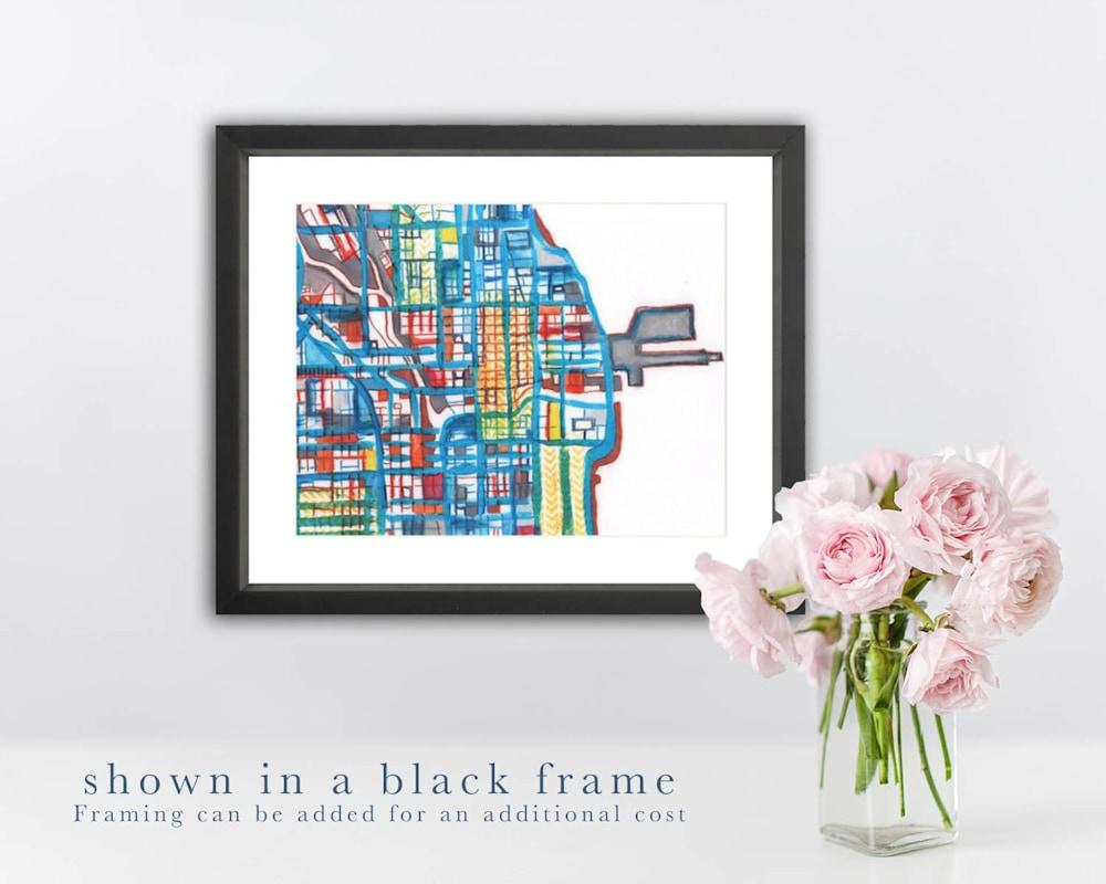 downtown black frame