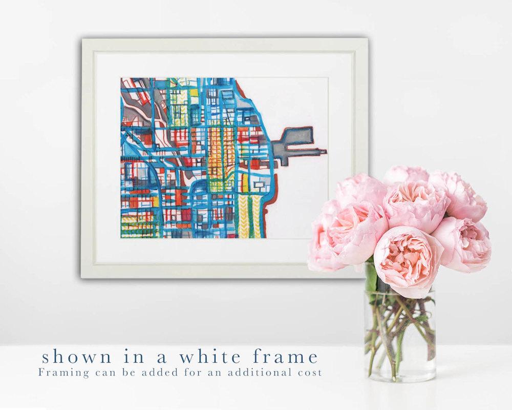 downtown white frame