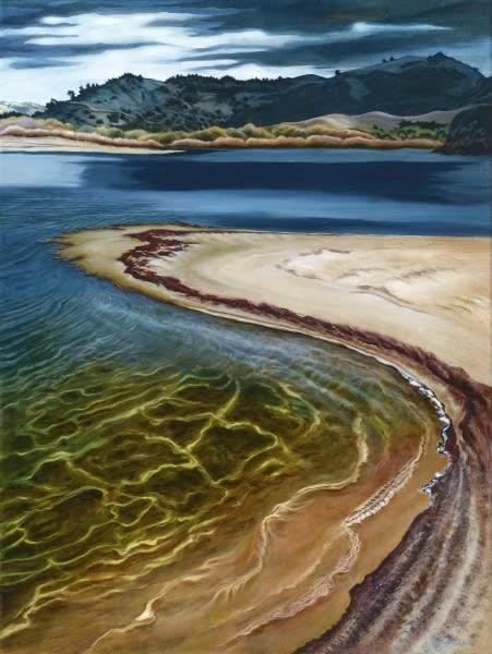 carmel river lagoon shore