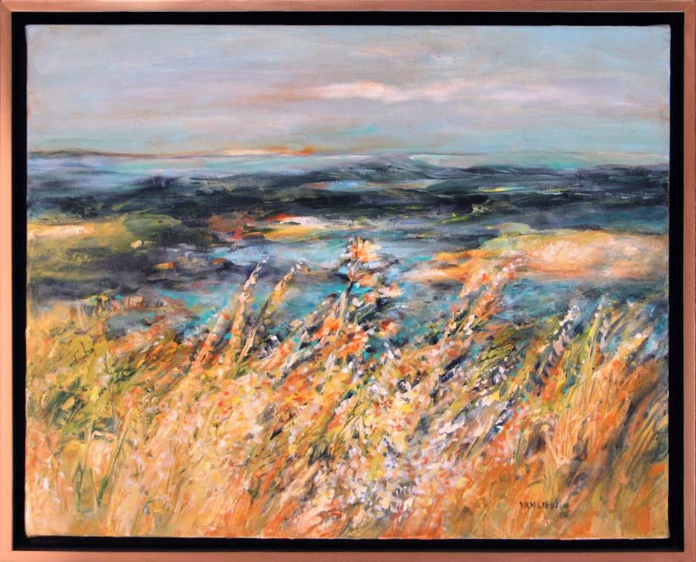 Lois Van Liew   Sunflower Line Up   Oil on Canvas   16 X 20   650