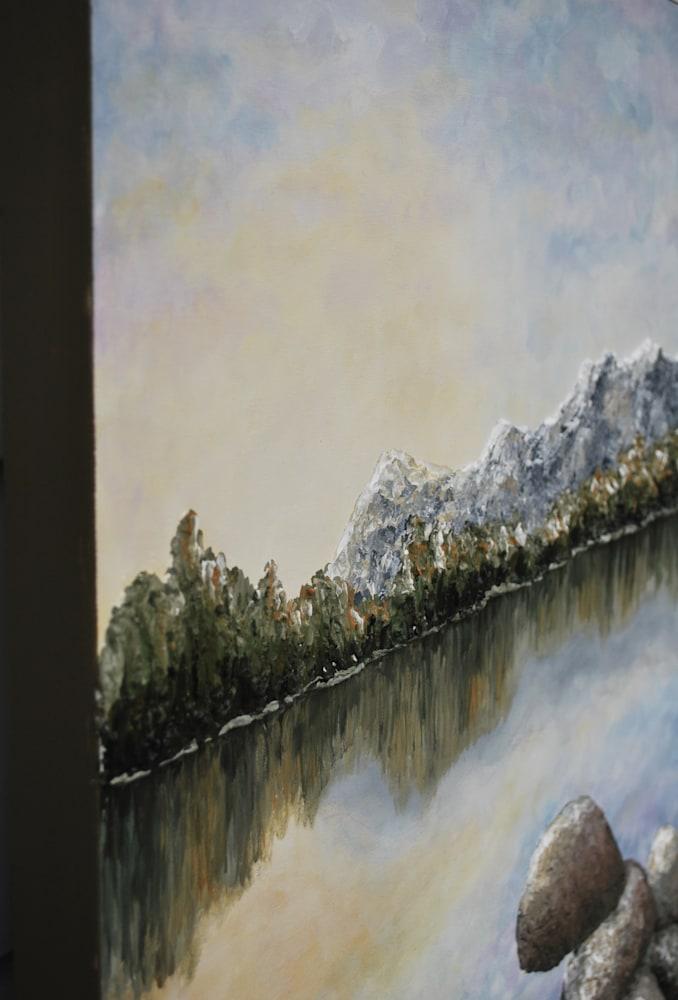 Sunlight on the Rocks   Detail