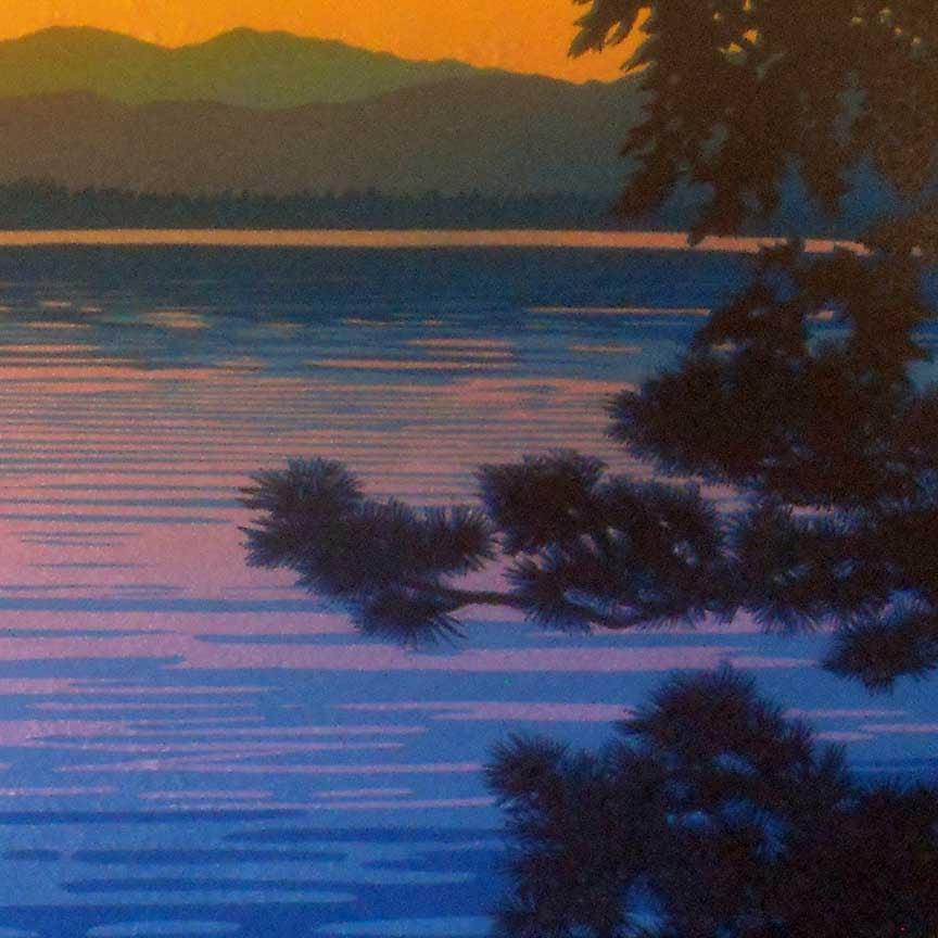 Skimming The Sunset II Detail 2
