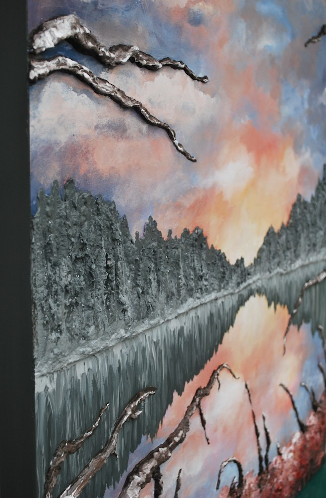Lake Reflections   Detail