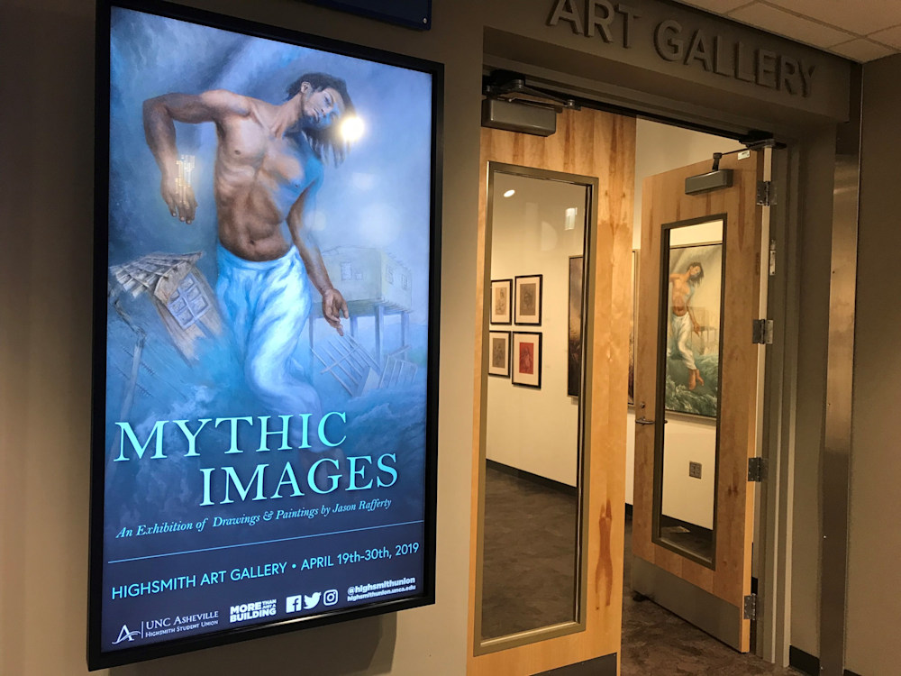 Mythic Images sign and gallery entrance   Rafferty