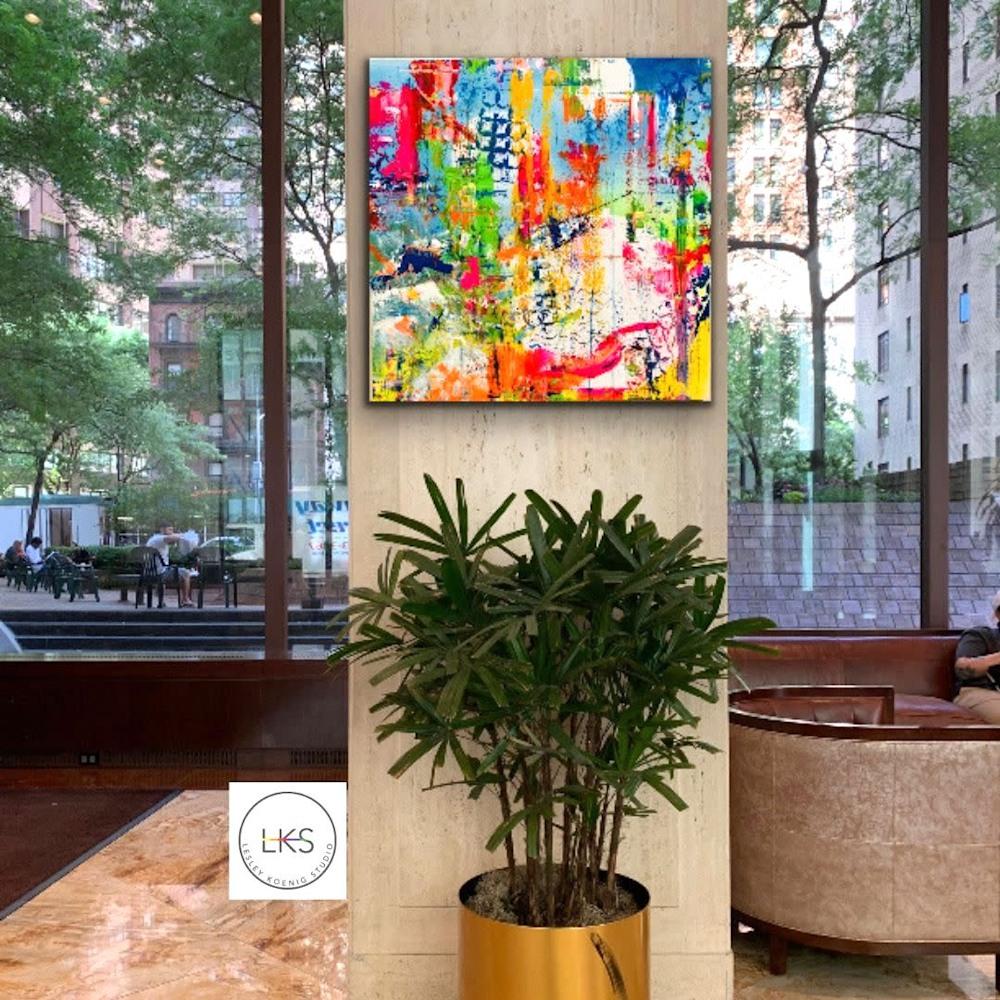 Finding My Way NYC Lobby