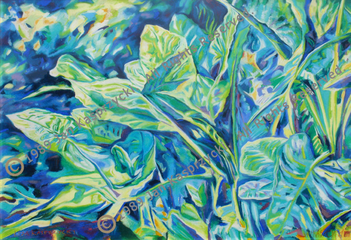 Ape Leaves wPastel wC