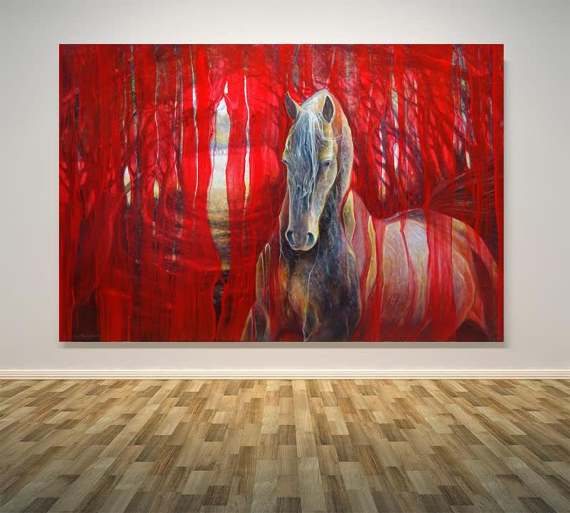 horse metamorphosis on wall S