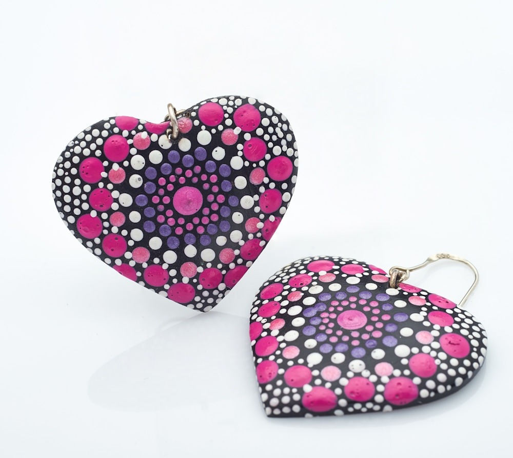 7A   Heart Earrings (A)