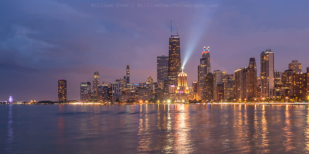 North Avenue Beach View of the Chicago Skyline sm