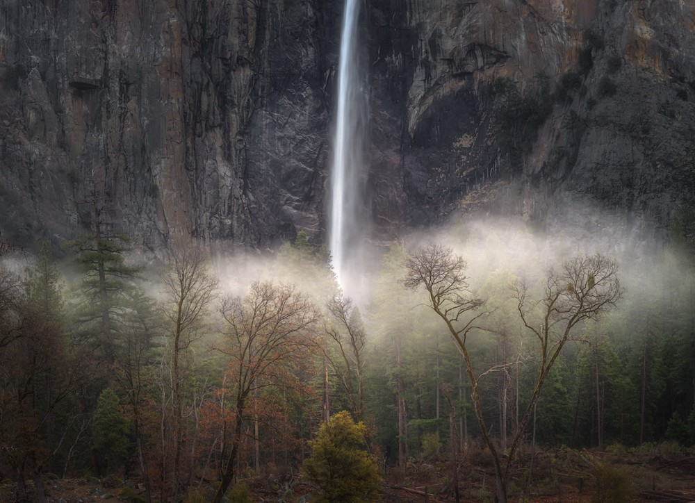 Bridalveil Fall Winter Into Spring