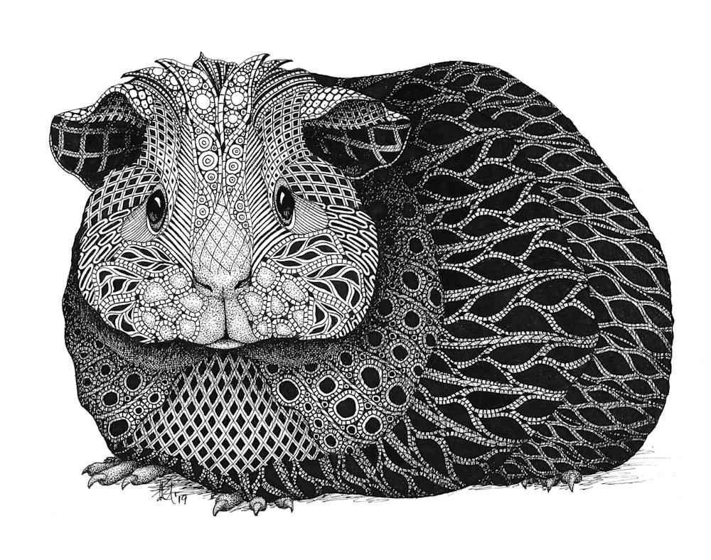 Guinea pig paper prints