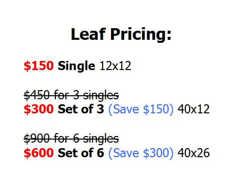 leaf pricing