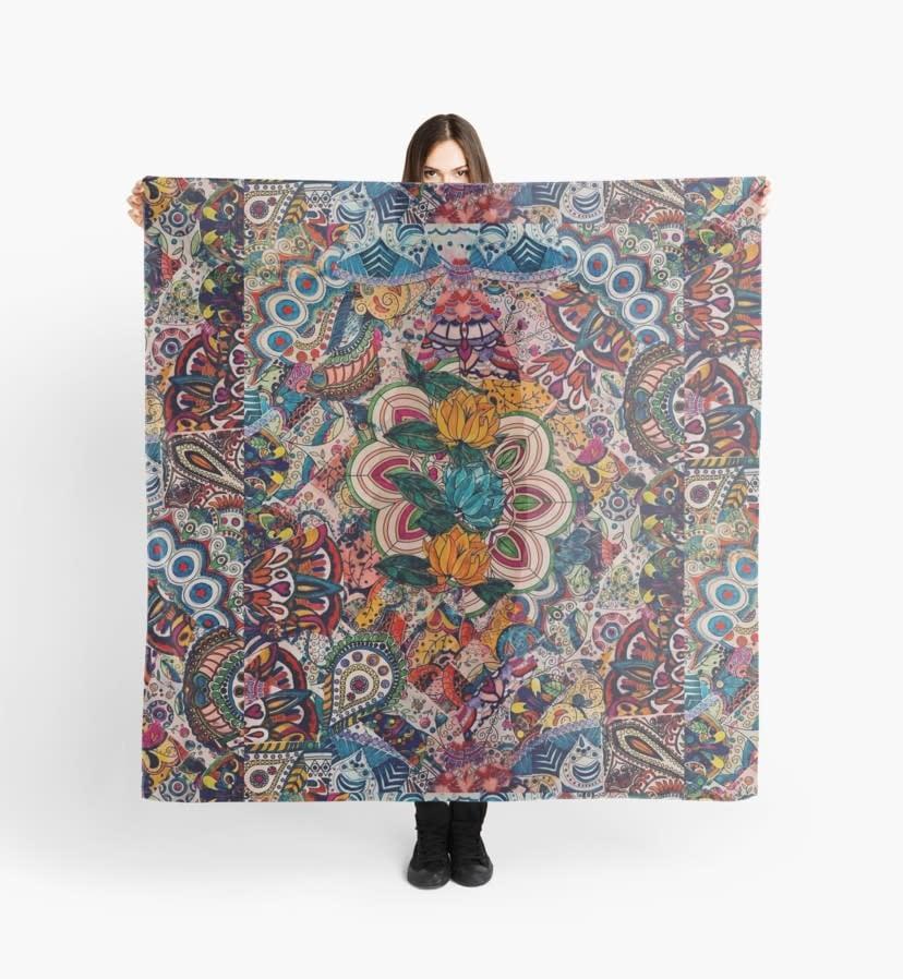 floral mosaic scarf