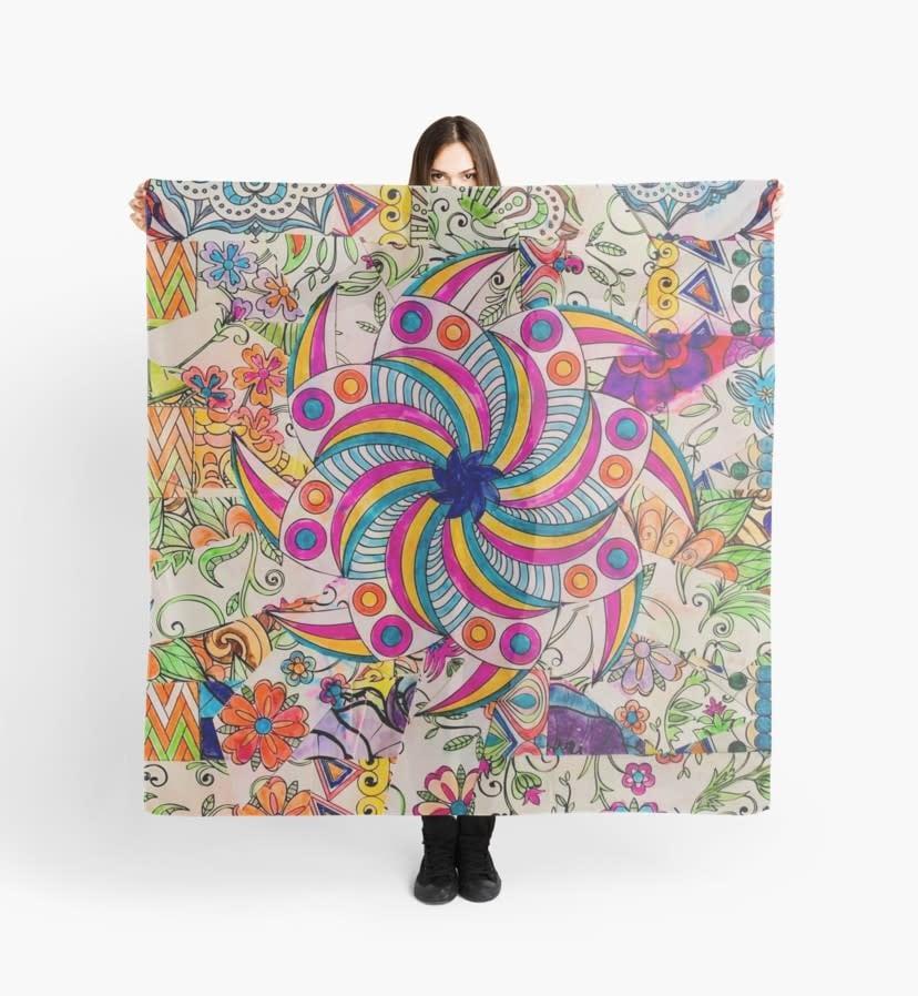 Pinwheel Mosaic scarf