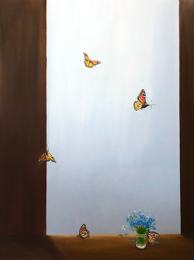 Butterflies and Forget Me Nots WEB 2019