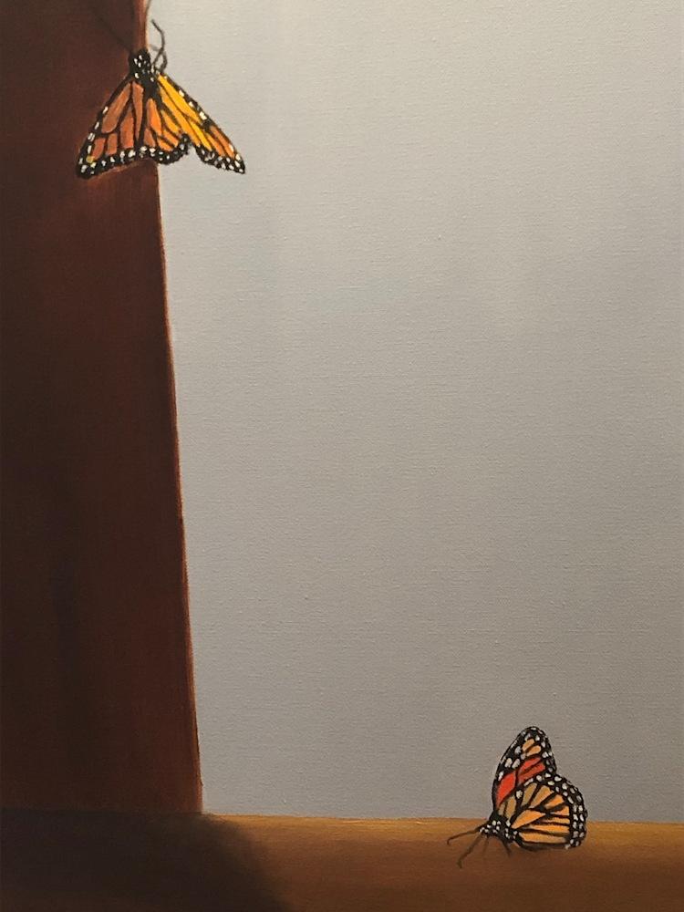 Monarchs and Forget Me Nots Detail Monarchs
