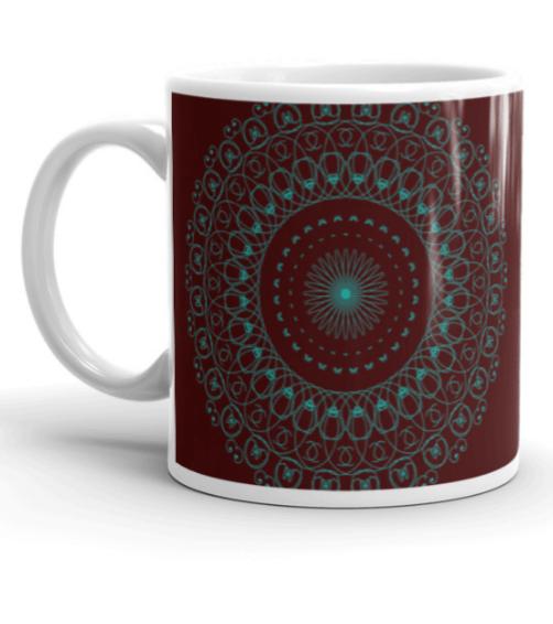 Deep Healing Mandala Art Mug L