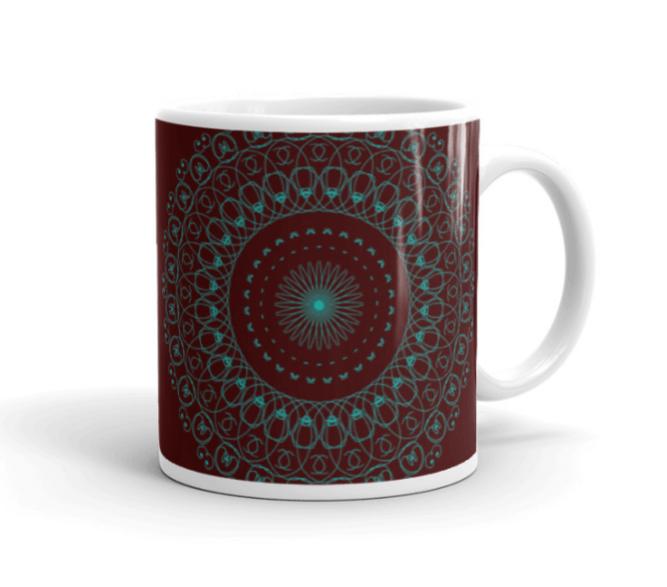 Deep Healing Mandala Art Mug R