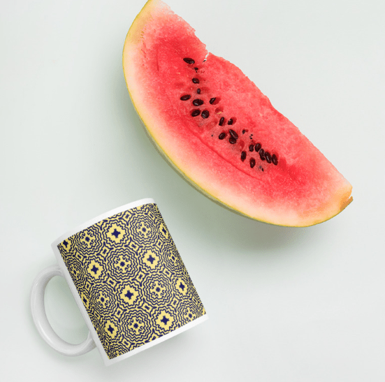 Mellow Yellow Mandalas Mug Pineapple